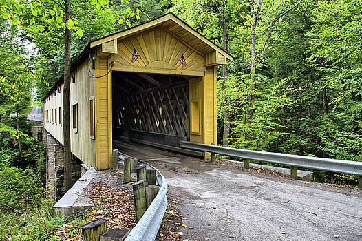 Warner Hollow Covered Bridge by Betty Pauwels