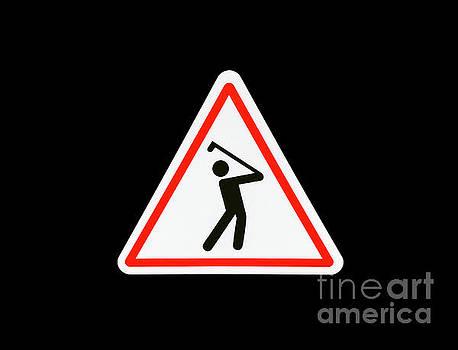 Warning Golfer by Mats Silvan
