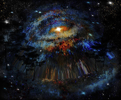Warped galaxy view by Lisa Stanley