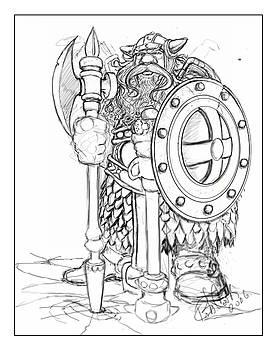 Warrior Dwarf by Bob Cook