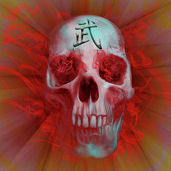 Warrior Kanji Skull by Vic Weiford
