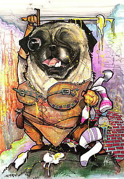 Warrior Pug by John LaFree