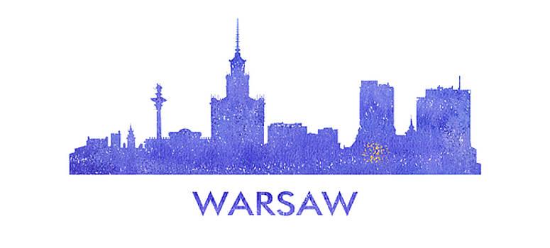 Vyacheslav Isaev - Warsaw city purple skyline