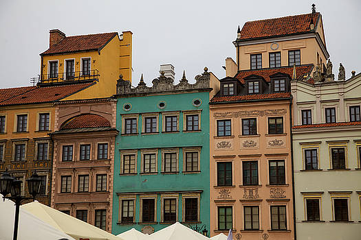 Warsaw Old Town Building Tops by Fedil