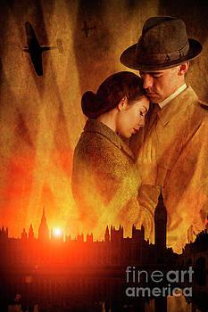 Wartime Couple London Blitz by Lee Avison