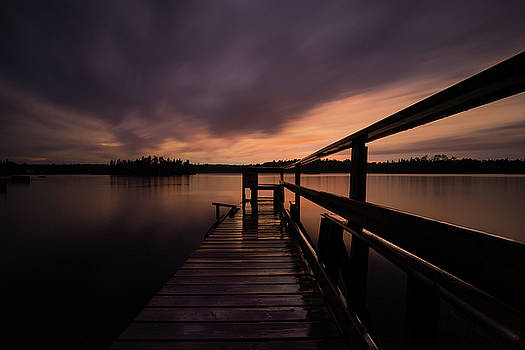 Wartman Lake Dock After Rain by Jakub Sisak