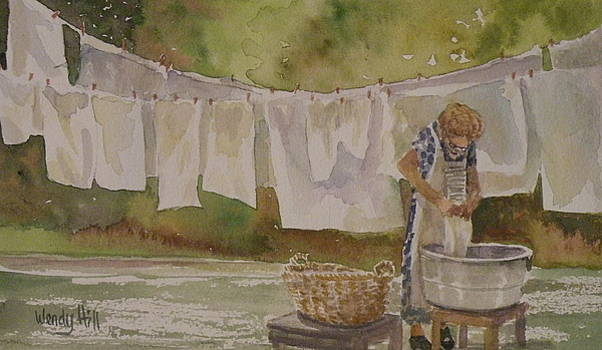 Wash Day Two by Wendy Hill