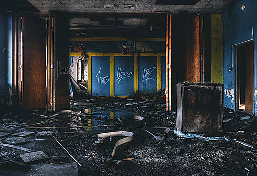 Washed Away - Abandoned Building Interior by Dylan Murphy