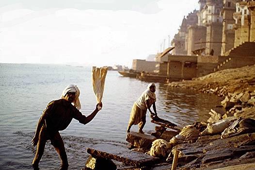 Washerman, Varanasi by Barron Holland