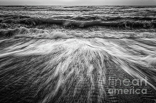 Washing Out to Sea Black and White Nature Photograph by Melissa Fague