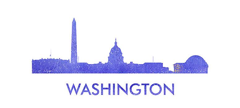 Vyacheslav Isaev - Washington city purple skyline named