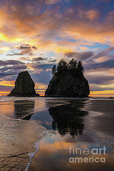 Washington Coast Sunset Beach Tranquility by Mike Reid