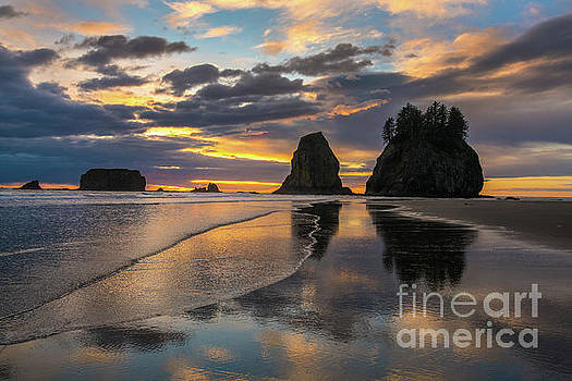 Washington Coast Sunset Cloudscape by Mike Reid