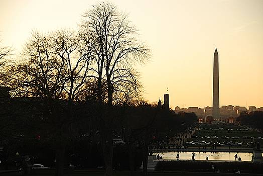 Washington Monument at Dusk by Josephine Benevento-Johnston