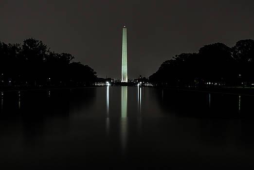 Washington Monument at Night by Ed Clark