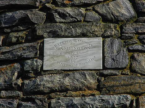 Washington Monument in Maryland Plaque by Raymond Salani III