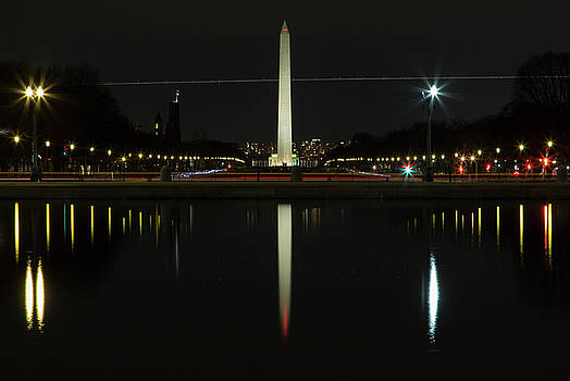 Washington Monument in Reflection by John Daly