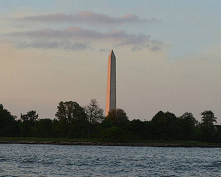 Washington Monument River by Christopher Kerby