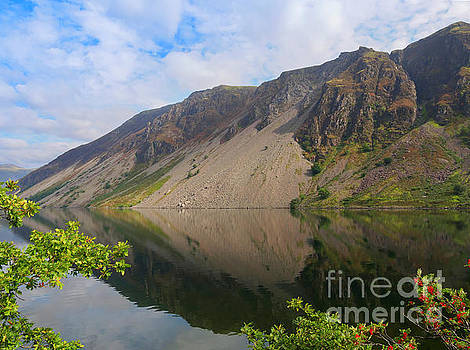 Wastwater Screes in Lake District National Park by Louise Heusinkveld