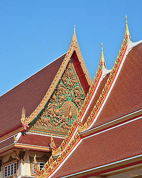 Wat Kaeo Phaithun Hall Gable DTHB0847 by Gerry Gantt
