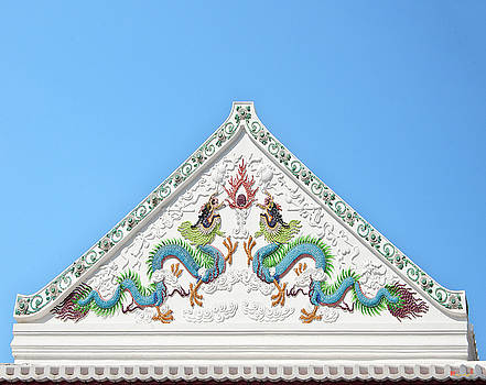 Wat Nangnong Sermon Hall Gable DTHB0570 by Gerry Gantt