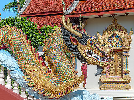 Wat Piyaram Wealth Luck Buddha Shrine Dragon DTHCM1237 by Gerry Gantt