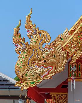 Wat San Pu Loei Monk Shrine Makara and Naga Roof Finials DTHCM2294 by Gerry Gantt