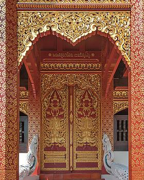 Wat San Pu Loei Phra Ubosot Doors DTHCM2285 by Gerry Gantt