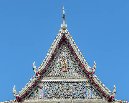 Wat Tsai Phra Ubosot Gable DTHB1658 by Gerry Gantt