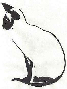 Siamese Silhouette  by Terri Harris