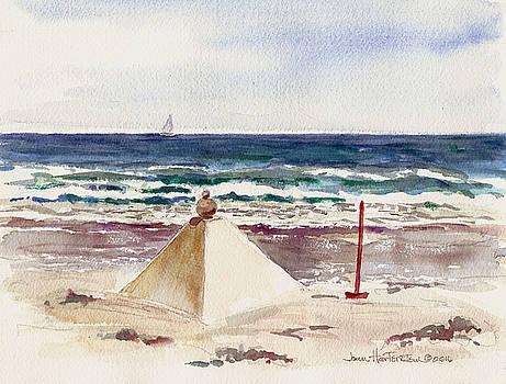 Watch Hill RI Sand Sculpture by Joan Hartenstein