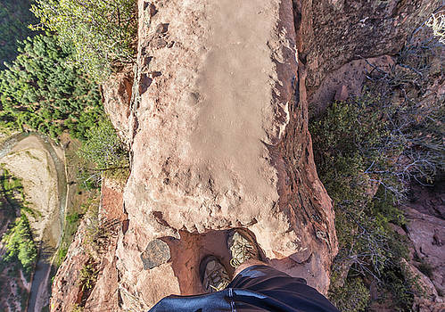 Watch your step at Angels Landing  by John McGraw