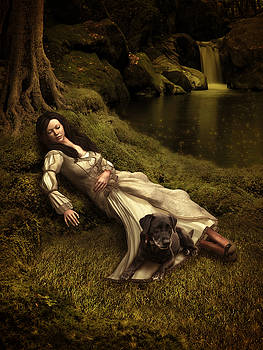 Watching over her sleep by Britta Glodde