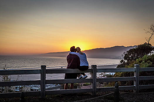 Watching The Sunset Glow by Gene Parks