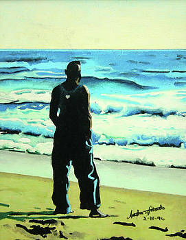Watching the Waves Roll In by Andre Ajibade