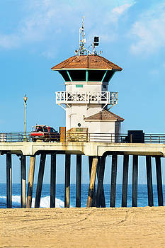 Watchtower on pier by Joe Belanger