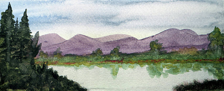 Water and Distant Hills by R Kyllo