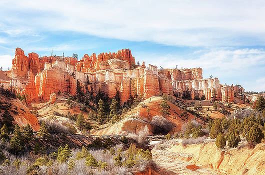 Water Canyon looking like a castle on the hill by Daniela Constantinescu