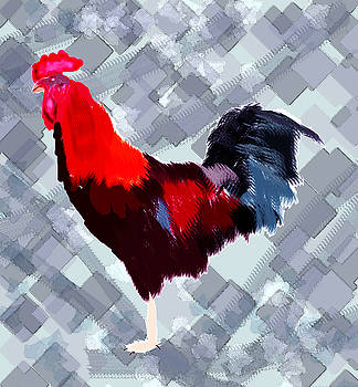 Water Color Cock Painting by S A