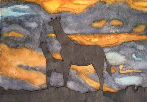 Water Color Silhouette by Jamie Wilke
