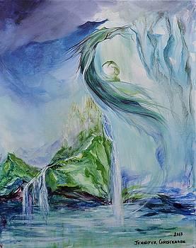 Water Dragon over Hy-Brasil by Jennifer Christenson