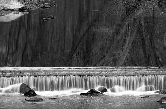 Water Fall in Black and White by Dorin Adrian Berbier