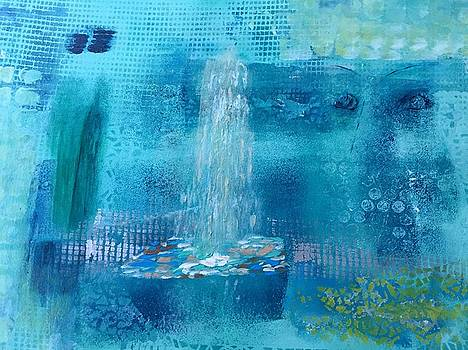 Water Fountain and the Ghost by Agota Horvath