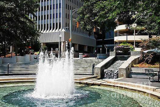 Water Fountain at Wells Fargo by Jill Lang