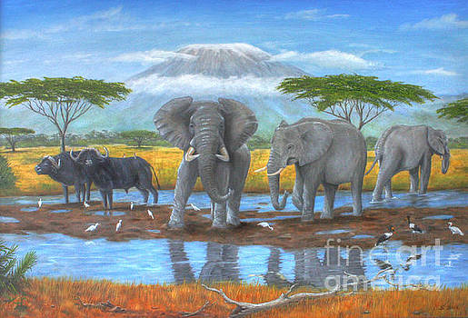 Water Hole by Sid Ball