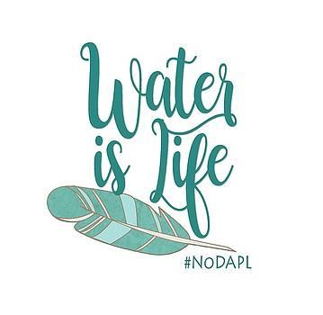 Water is Life NoDAPL by Heidi Hermes
