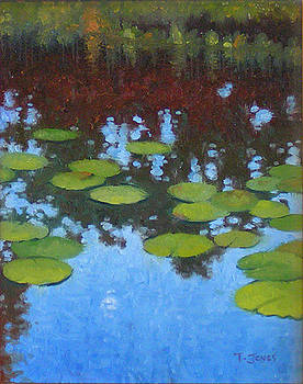 Water Lilies at Moonrise by Timothy Jones