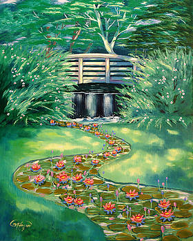 Water Lilies Bridge by Milagros Palmieri