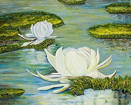Water Lilies by Elena Pronina