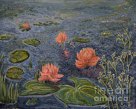 Water Lilies lounge by Felicia Tica